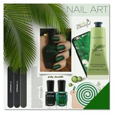 """""""Green With Envy - Wintery Nail Polish: 09/01/17"""" by pinky-chocolatte ❤ liked on Polyvore featuring beauty, Zoya, MAC Cosmetics, Dolce&Gabbana, Crabtree & Evelyn, Kate Spade and Brewster Home Fashions"""