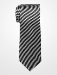 KENNETH COLE BLACK AND SILVER STRIPE TIE
