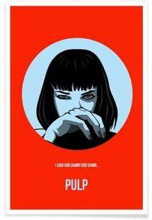 Pulp Poster 1 - Naxart - Premium Poster