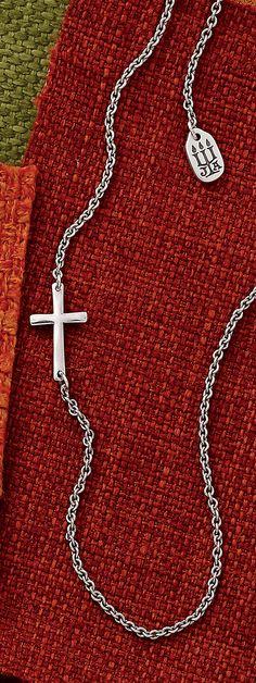 Fall Collection - Horizon Cross Necklace #JamesAvery