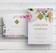 floral printable diy wedding stationery