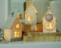 Paper House Luminaries Printable Template Graphics by catheholden