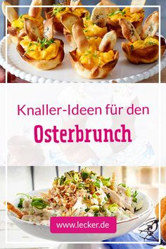 Easter brunch - recipes for the buffet - Healthy Breakfast Recipes Drink Party, Easter Chocolate, Easter Brunch, Easter Food, Easter Dinner, Easter Crafts, Italian Recipes, Breakfast Recipes, Food And Drink