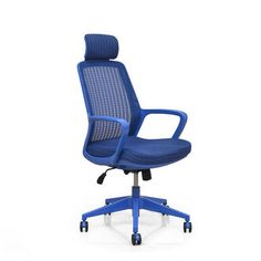Ocean High Back Office Chair - @home Nilkamal, blue