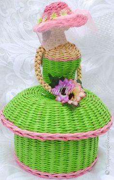 Поделка изделие Плетение Нарочно не придумаешь Трубочки бумажные фото 9