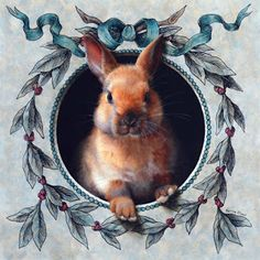 """""""Am I Late?"""" (Rabbit 33) Oil and ink, by Marina Dieul."""