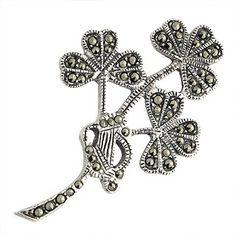 Triple the luck - triple shamrock brooch
