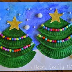Paper Plate Christmas Tree Craft