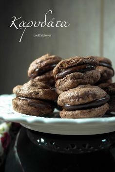 Cookbook Recipes, Sweets Recipes, Fun Desserts, Cookie Recipes, Delicious Desserts, Chocolate Fudge Frosting, Chocolate Sweets, Sweet And Salty, Greek Recipes