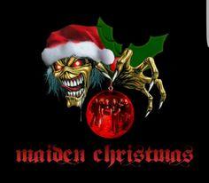 Santa Eddie with Iron Maiden christmas ornament Maiden Christmas Heavy Metal Christmas, Dark Christmas, Christmas Poster, Christmas Wishes, Christmas Greetings, Christmas Traditions, Christmas Humor, Best Heavy Metal Bands, Iron Maiden Mascot