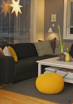 Black and Yellow Living Room. Black and Yellow Living Room. Grey Living Room Ideas Furniture and Accessories that Prove Grey And Yellow Living Room, Living Room Accents, Living Room Grey, Home Living Room, Living Room Designs, Grey Yellow, Yellow Living Room Accessories, Mustard Yellow Decor, Bright Yellow