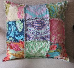 raq quilt pillow 14x14  CUSTOM Amy Butler by chezMartine on Etsy, $22.00