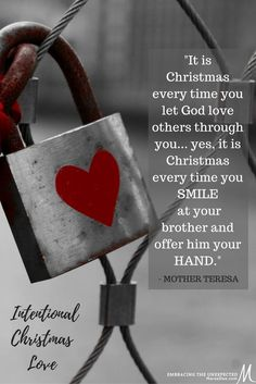 Are you going to let God love others through you this season? We have to be intentional about it on a daily basis. We must look for opportunities and choose to love.  Meet me on Instagram or Facebook each Tuesday to share a few ways you have intentionally loved others throughout your week.   Holidays can be difficult for many let's spread God's love together and keep this going throughout the holiday season.