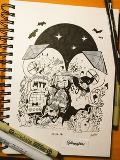 INKTOBER DAY 16: Halloween in Waterfall! | More Inktober and artworks |