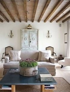 Ceilings, table.. armoire... all lovely