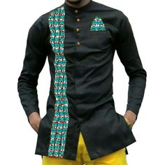 African print mens dashiki shirts - long sleeve turndown collar shirt