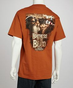 Take a look at this Texas Orange Beard Brothers Tee - Men by Club Red on #zulily today!
