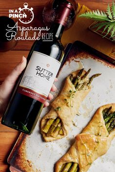Making an entrance with Asparagus Roulade paired with our Cabernet lets everyone feel at home.