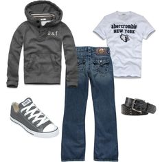 """""""abercrombie for kids"""" by anne-ratna on Polyvore, haha this is my uniform for my days off"""