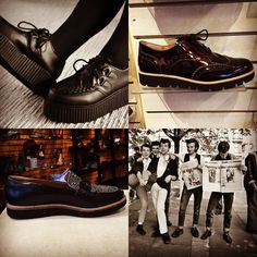 "Today we'll be delivering a brief history of ""Creepers"" or ""Brothel Creepers"" as they are sometimes known.  Creepers which feature thick crepe soles and leather (often suede) uppers really hit it big after WWII. They were the shoe of choice for Teddy Boys aka the hipsters of 1950's London who were trying to emulate the Edwardian fashion of their grandparents and thus were often worn with skinny trousers and exposed socks.  The punks of later decades also picked it up and ran with it…"