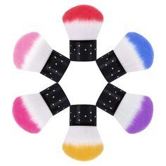 Renkli Tırnak Araçları Fırça Akrilik ve UV Jel Tırnak Sanat toz Fırça Temizleyici Araçları UV Jel Nail Art Temizleyici Için Çok Renkli