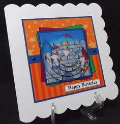 Boriz the Knight Circle Pyramage Topper - Photo by Suzi Cooper AKA Alyssuzi Handcrafted Cards