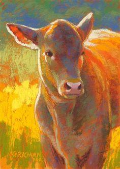 "DPW Fine Art Friendly Auctions - ""Josie"" (pastel, 7x5 inches) by Rita Kirkman"