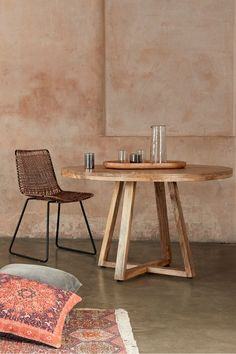 Buy French Connection Round Dining Table from the Next UK online shop Round Wooden Dining Table, Wooden Dining Tables, Dining Room Table, Table And Chairs, Round Extendable Dining Table, Table Furniture, Furniture Dolly, Decoration, French Connection