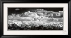 Mount McKinley Alaska Ansel Adams | Mt. McKinley Range, Clouds, Denali National Park, Alaska, 1948 Framed ...