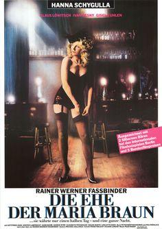 """MP326. """"Die Ehe der Maria Braun"""" German Movie Poster by Jean-Marie Troillard (Rainer Werner Fassbinder 1979) / #Movieposter"""