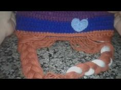 Touca de croche frozen em português (Elsa) 4ª e ultima parte - YouTube