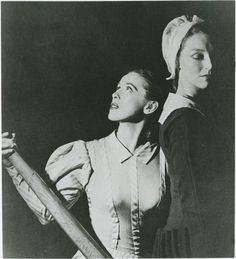 """Martha Graham and May O'Donnell in the original """"Appalachian Spring"""" (1944)"""