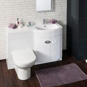 Pebble Series Combined Toilet and Basin Unit Right [WHI-BU002-BAS LH BOM] - £499.99 : Platinum Taps & Bathrooms Basin Sink Bathroom, Sink Taps, Toilet And Basin Unit, Towel Radiator, Steam Showers, Mixer Taps, Bathroom Furniture, Bathroom Accessories, Bathrooms