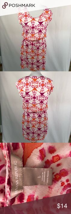 Banana Republic orange and pink tie dye dress lrg Size large. Gently used  Smoke free, pet friendly home. Make sure to check out my other listings, thanks for looking! Banana Republic Dresses Mini