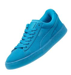 cheap for discount a502a 9ad24 Puma Suede Embossed Iced Fluo JR Sneakers Girls Atomic Blue-White Sneakers  K4,