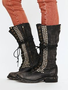 these boots are awesome! #black #leather #studded