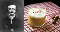Something Frances would make for Edgar, perhaps? Click through for a link to an Edgar Allen Poe inspired brandy cocktail!