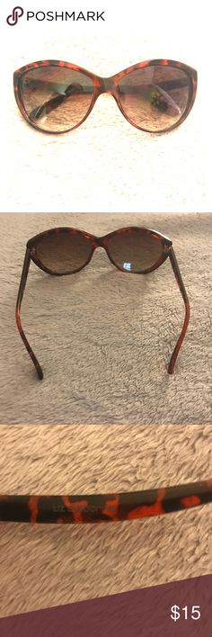 Liz Claiborne Sunglasses Liz Claiborne full-frame, tortoise shell (color) sunglasses. Perfect to wear around town or for a day at the beach! Only worn a couple of times, still in great condition! Liz Claiborne Accessories Sunglasses