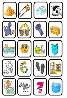 aud discr init beginklank z Alphabet Activities, Preschool Activities, Number Puzzles, Bingo, Clipart, Worksheets, Literacy, Homeschool, Classroom