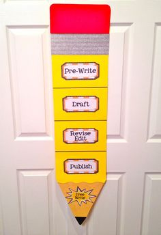 Crafternoon: Writing Process Pencil Chart