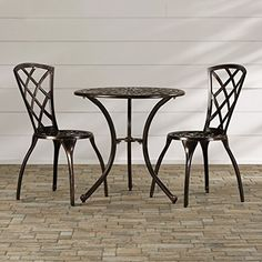 Premium Bistro Set Three Piece Classic Round Poolside Patio Table Chair  Furniture U003c3 Find Out