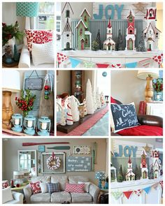 The Happy Housie Christmas Living Dining Room Tour - there's some cuteness here