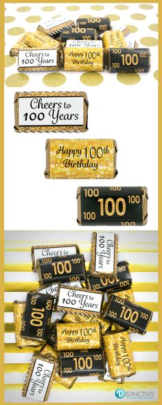 Celebrate A 100th Birthday In Style With Black And Gold Theme 90th Parties