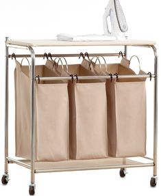 Neatfreak Hampers, EVERFRESH® Laundry Triple Sorter with Ironing Board & Reviews - Wellness - Bed & Bath - Macy's