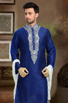 Buy Royal Blue Art Dupion Silk Kurta Pyjama online, SKU Code: This Blue color kurta pyjama for Men comes with Art Silk. Shop Now! Dupion Silk, Raksha Bandhan, Kurta Designs, Blue Art, Eid, Royal Blue, Shop Now, Pajamas, Diamonds