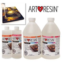 NEW! ArtResin 2-part Epoxy Resin. Designed specifically for creative applications, it can be applied on paintings, photos, wood & more!