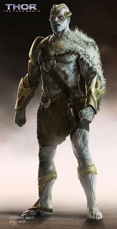 THOR: THE DARK WORLD Concept Art by Josh Nizzi Featuring Unused Characters - Frost Giant