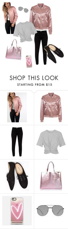 """""""bomber#jacket"""" by aazraa ❤ liked on Polyvore featuring Glamorous, NLY Trend, Ted Baker, T By Alexander Wang, Wet Seal, River Island, Casetify and Elizabeth and James"""