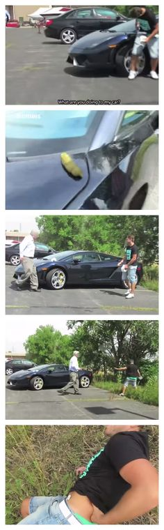 OMG! Lamborghini Poop Prank Goes Horribly WRONG (VIDEO)