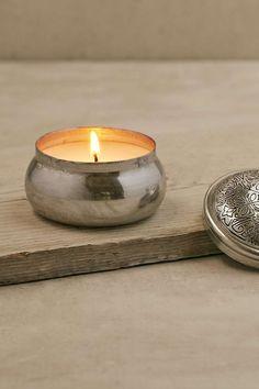 Bougie Aspen Bay Candles Boho dans une boîte gravée